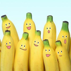бананы, веселые