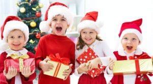 Дети подарки Рождество