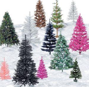 искусственные елки, новый год, украшения
