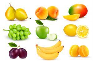 фрукты, яблоки, бананы,сливы,персики,груши