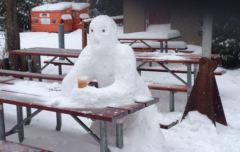 зима,алкоголь,снеговик