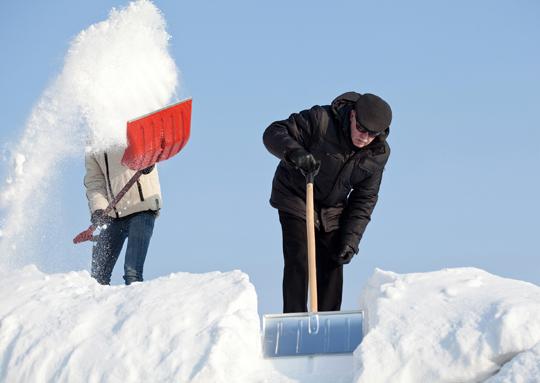 снег,зима,лопата