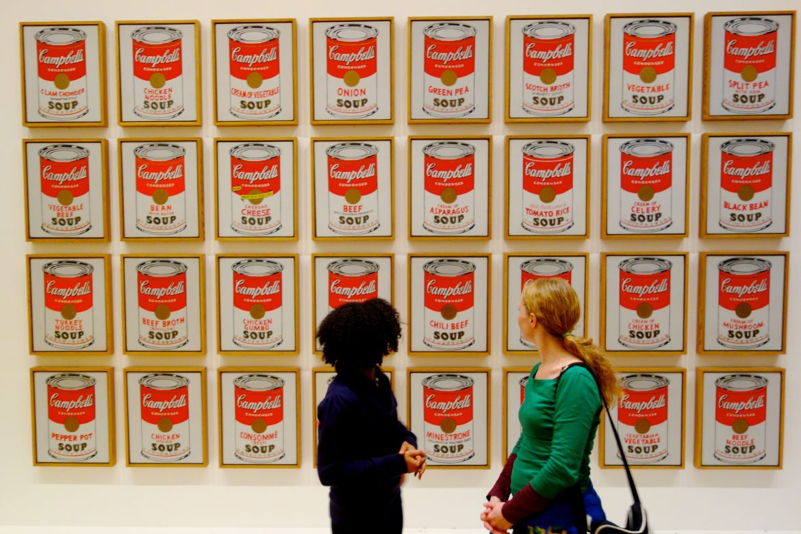 andy warhol cambells soup can Detail from andy warhol's campbell's soup cans (1962) the soup cans were a watershed for warhol the painted works both played on common commodities (like store brand logos) and marked the.