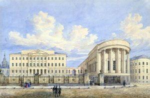 здание Московского университета на Моховой с церковью святой Татьяны. Г.Ф.Барановский. 1848 год