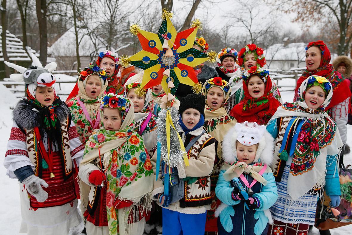 Обычаи нового года на украине