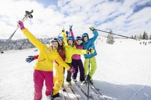 горные лыжи,зима, трасса