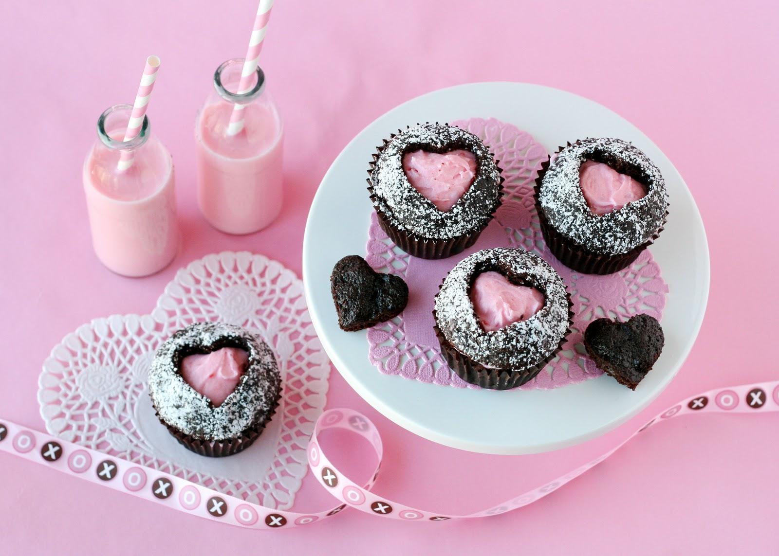 кексы с сердечком