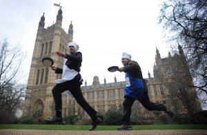 блинные гонки в Лондоне