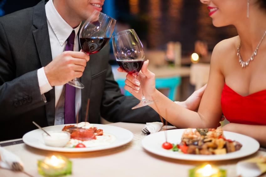 романтический ужин, день влюбленных