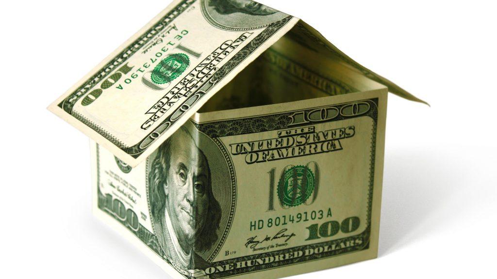домик из долларов