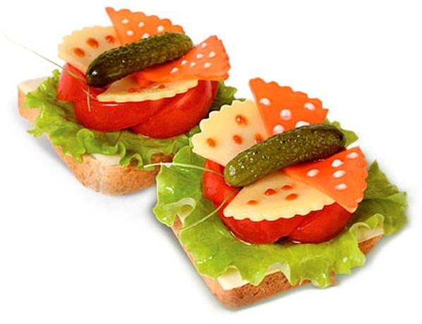 бутерброд бабочка