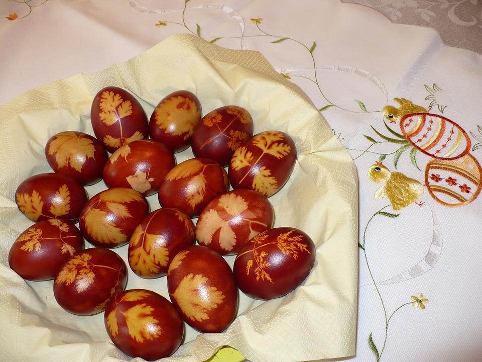 крашенки пасхальные яйца