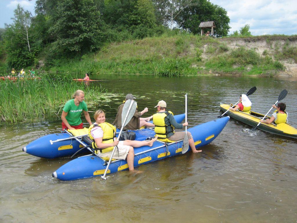сплав на катамаране по реке Ворскле