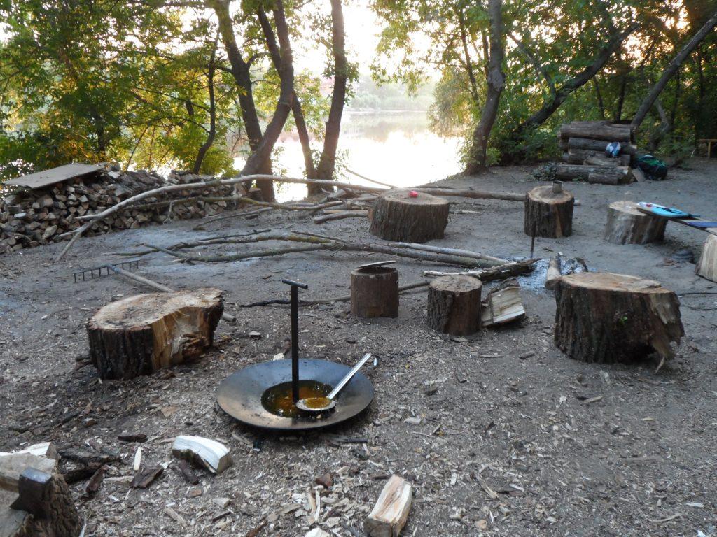 остров Козацкий место обеда