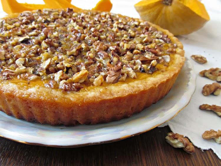 тыквенный торт с грецкими орехами