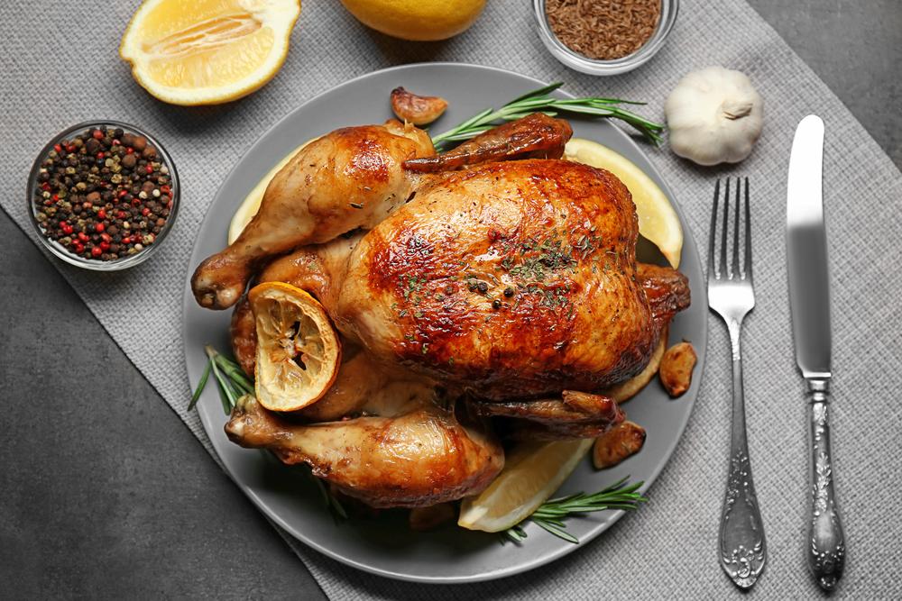 курица с лимоном и розмарином