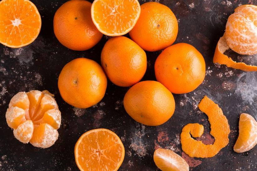 оранжевые мандарины