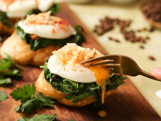 яйца по-флорентийски на завтрак