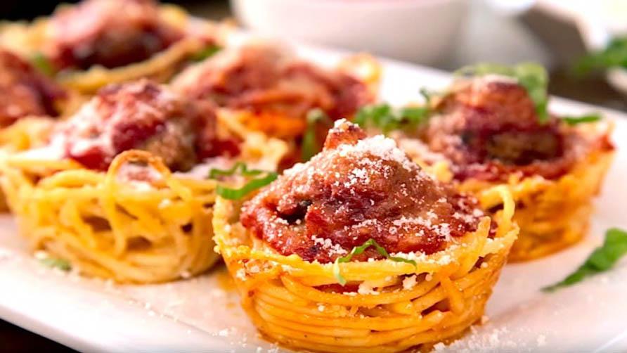 рецепт кексы из спагетти