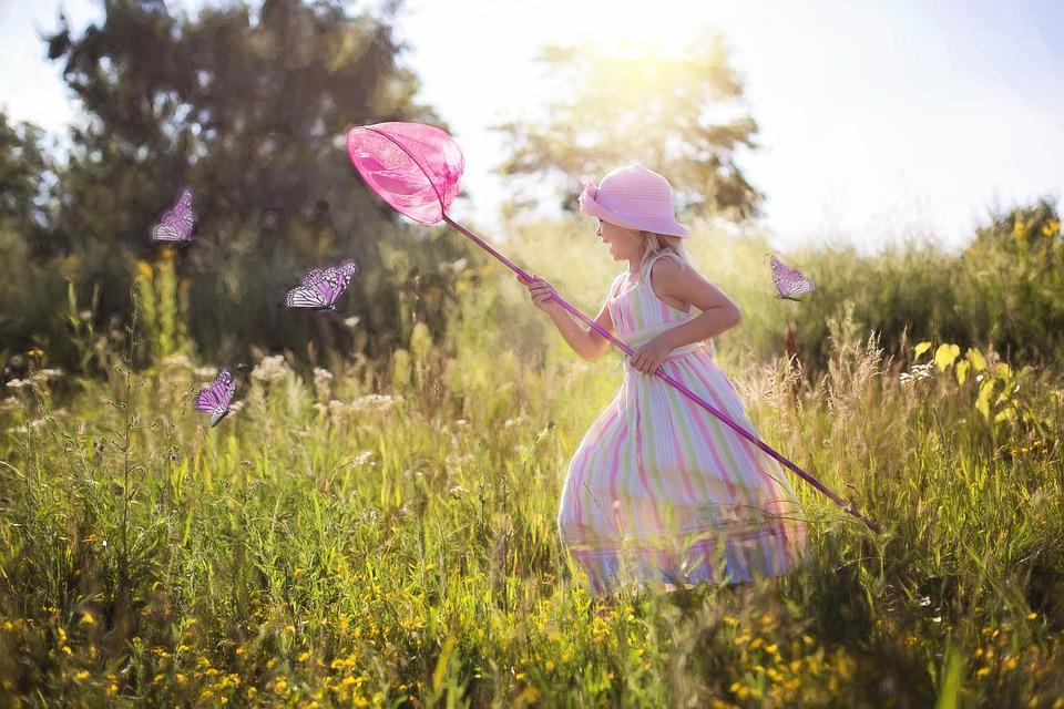 лето с ребенком на природе