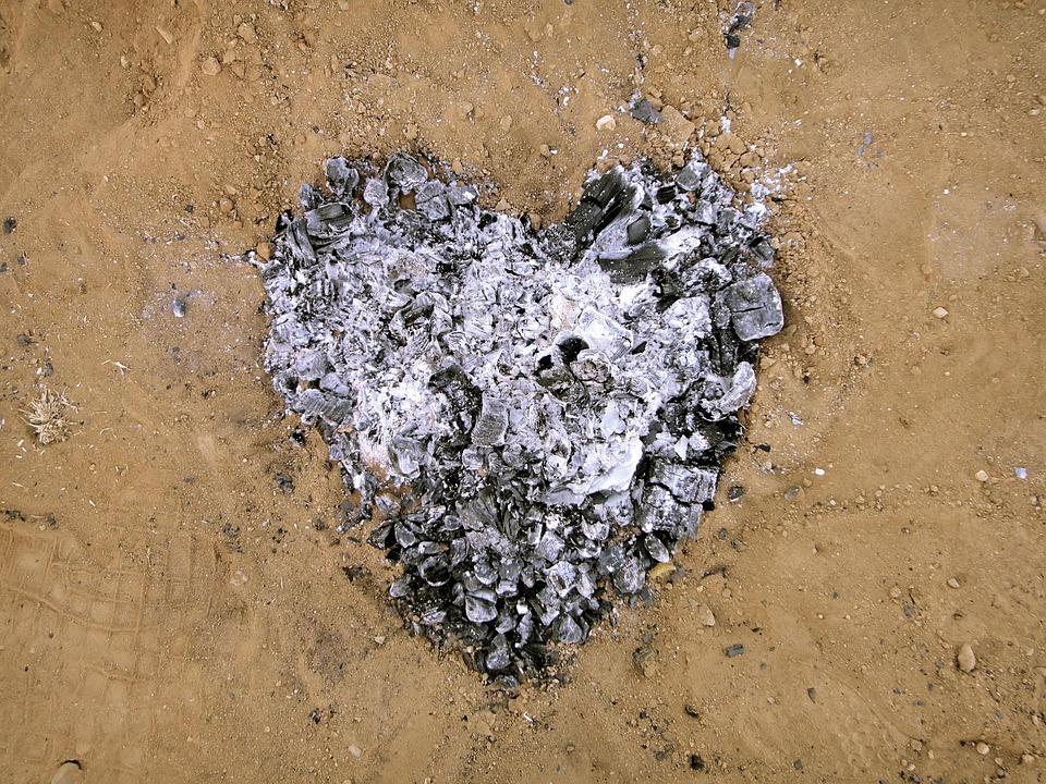 зола на почве как сердце