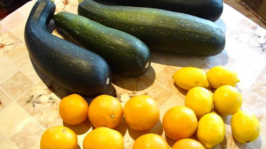 варенье из кабачков и лимонов