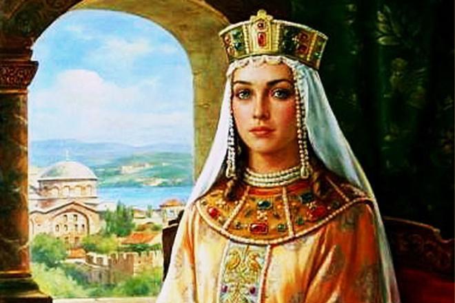 Княгиня Ольга в юности портрет