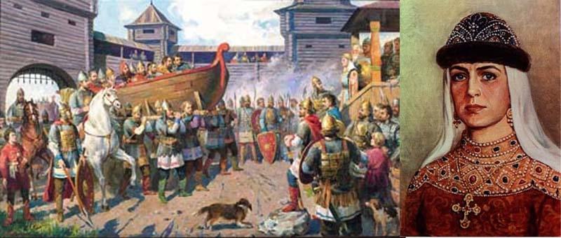 княгиня Ольга отомстила древлянам