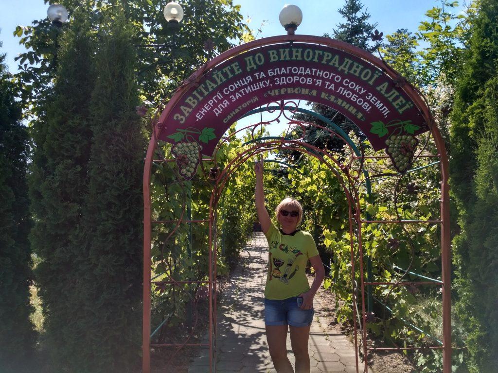 Отдыхающие любят виноградную аллею в санатории «Червона Калина»
