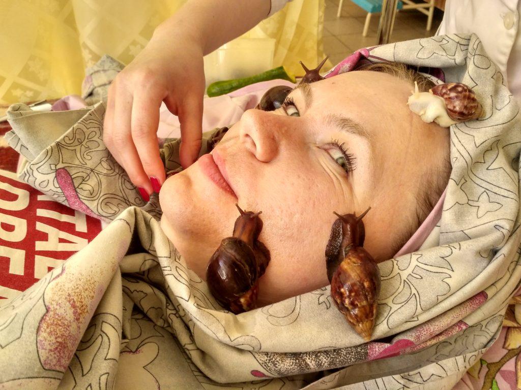 массаж улитками в санатории «Червона Калина»