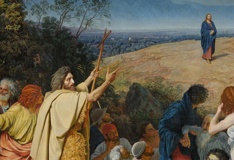 Иоанн Креститель на картине Иванова «Явление Христа народу»