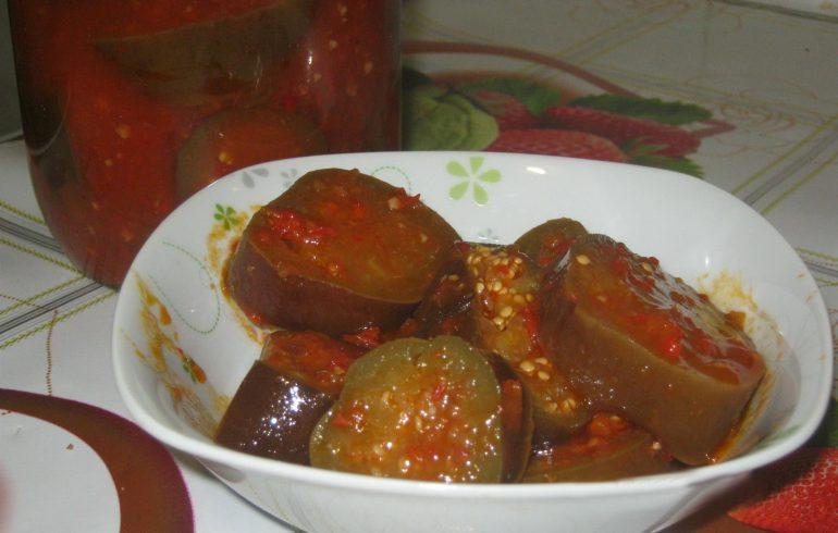 Баклажаны в томате: пошаговый рецепт