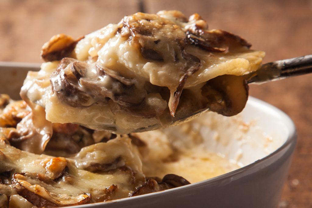 как приготовить картофельно-грибной гратен