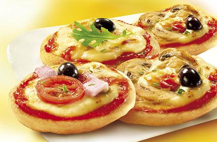 пицца, ананас, ветчина