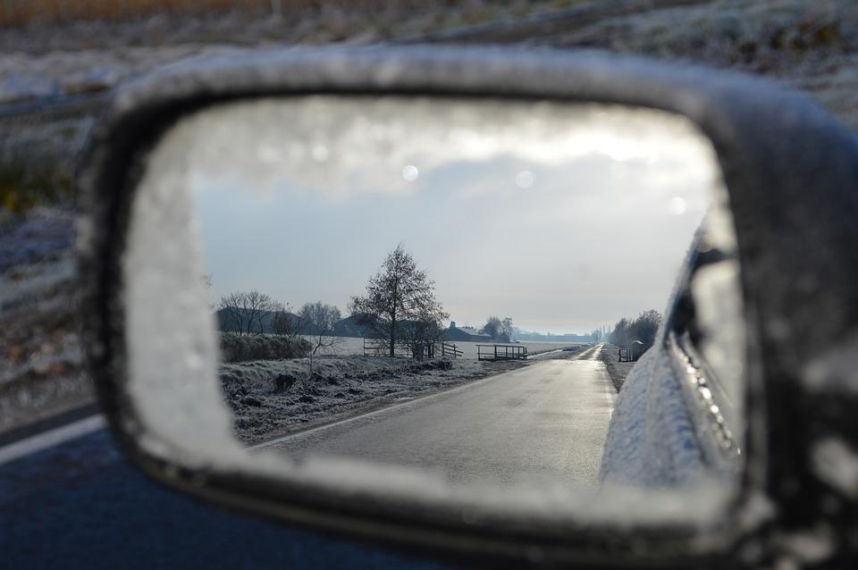 поездка на авто зимой