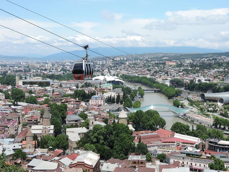 Тбилиси канатная дорога вид сверху