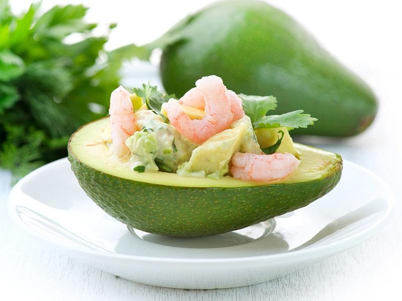 готовим салат авокадо с креветками на день влюбленных