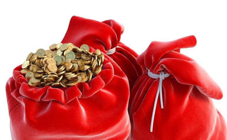 деньги, красный мешок, приметы,новый год