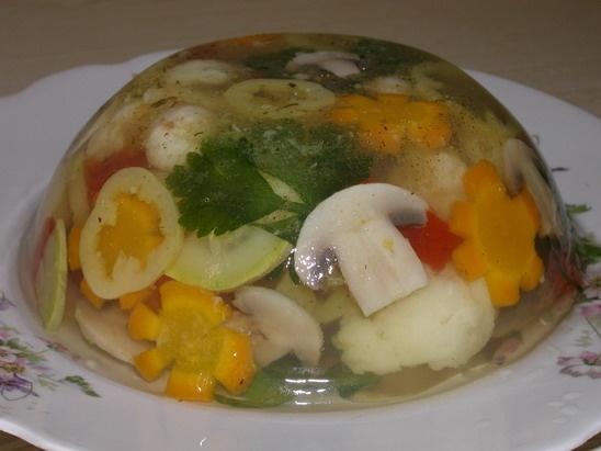 заливное из овощей,рецепт