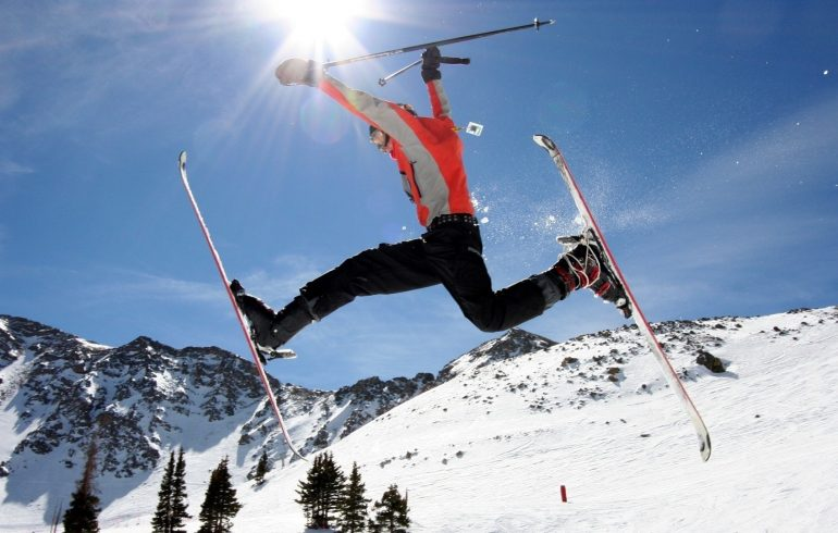 зима,лыжи, горы