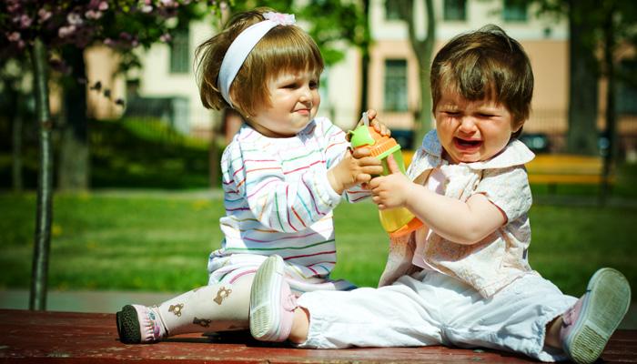 дети дерутся из -за игрушки