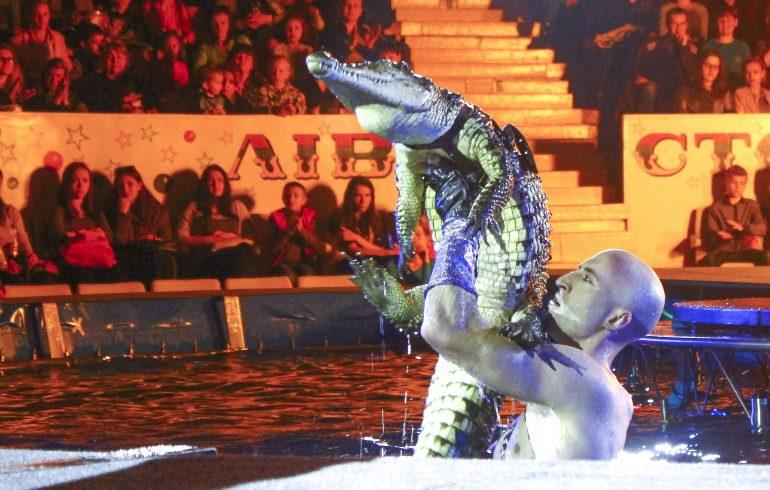 крокодил в киевском цирке