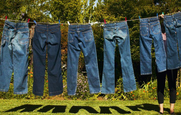 джинсы сохнут после стирки
