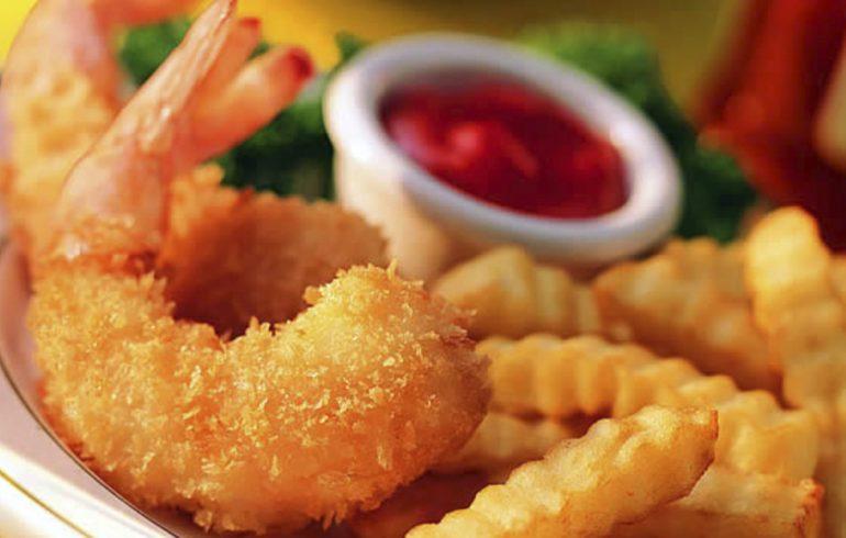 морепродукты в кляре