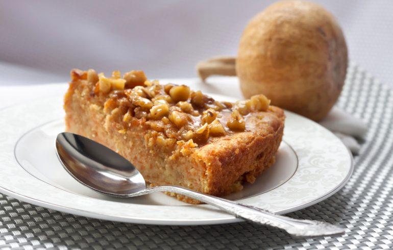 тыквенный пирог с медом и грецкими орехами