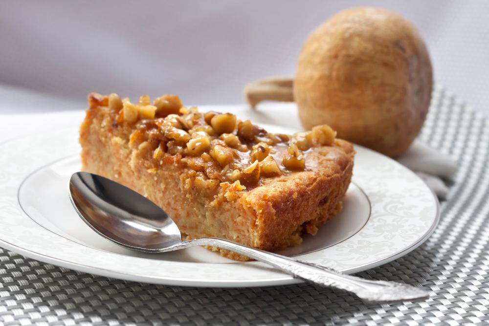 Тыквенный пирог с грецкими орехами и медом