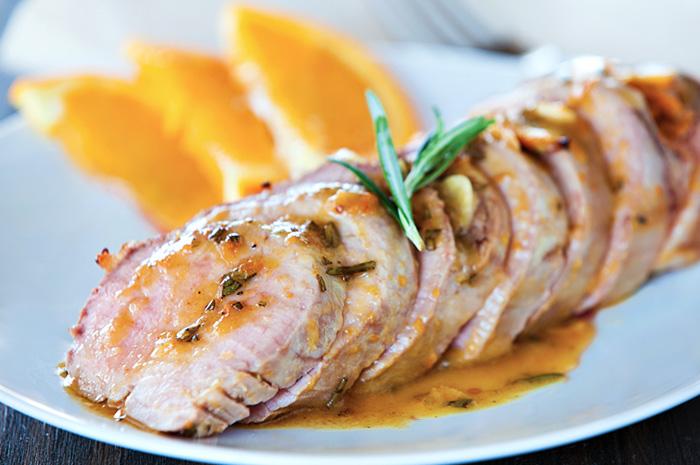 свинина, запеченная в духовке в апельсиновой глазури