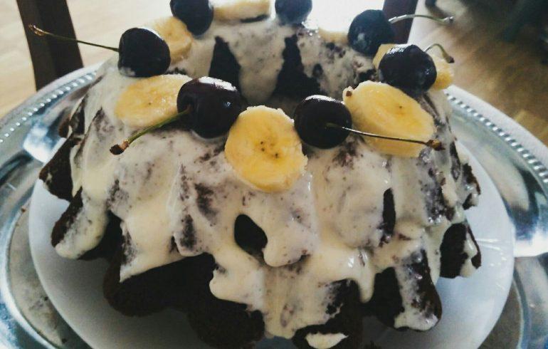 Пирог Вишня на снегу рецепт