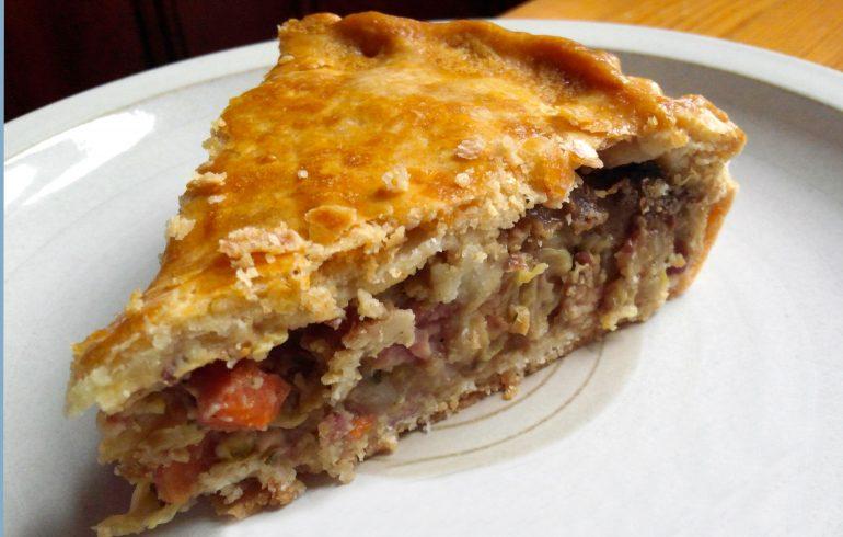 пирог, капуста, мясо, рецепт