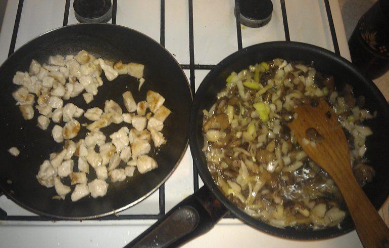 жюльен, хлеб, грибы, рецепт
